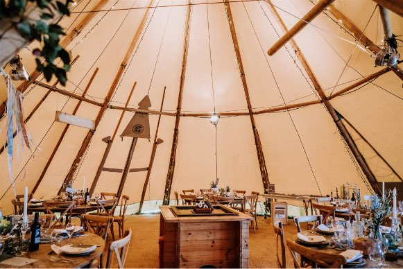 interior view of tipi