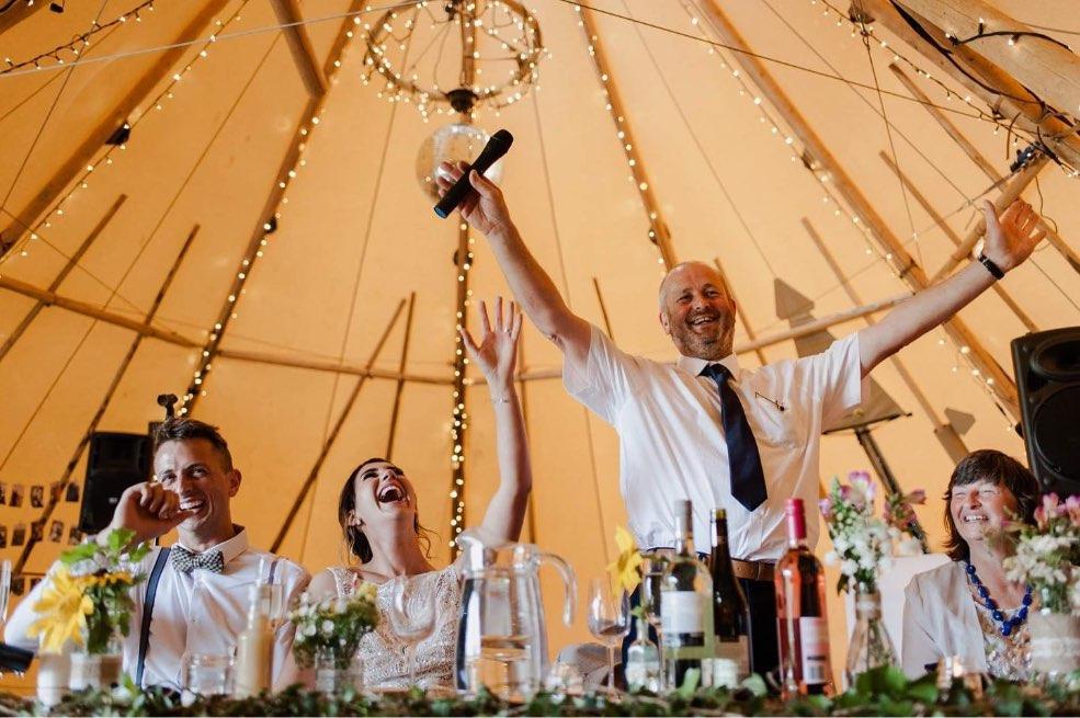 wedding in tipi