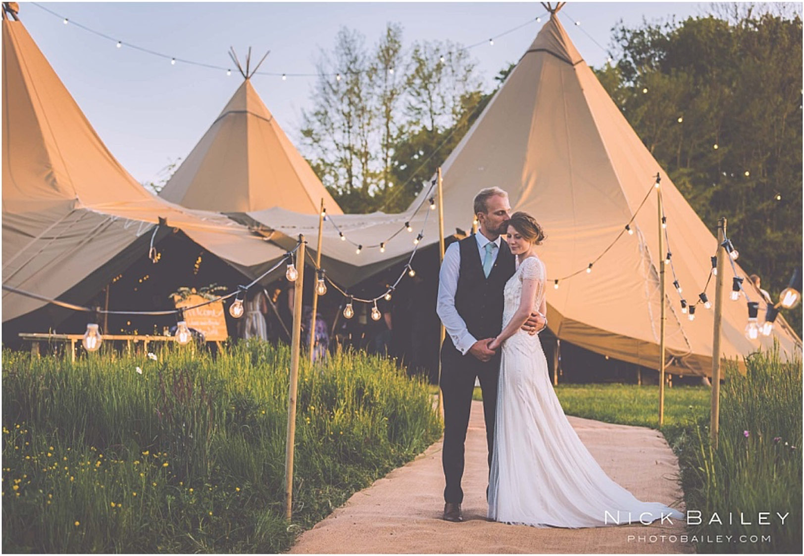 Tipi and Walkway