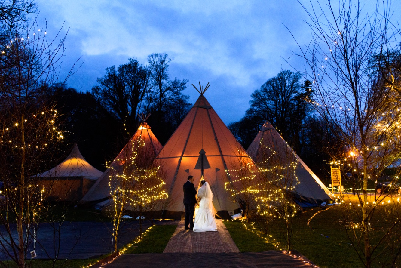 tipi with lighting