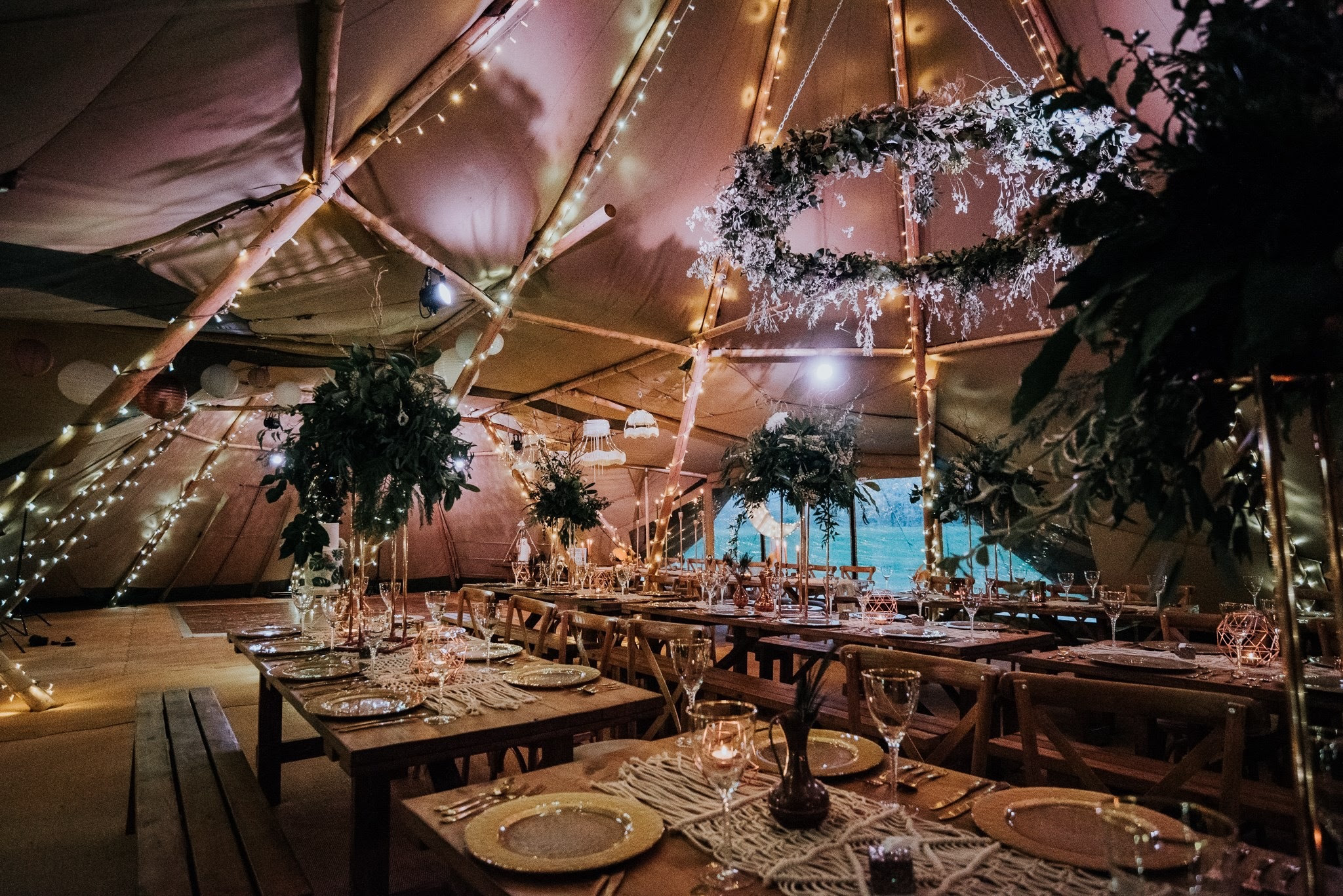 Winter tipi event